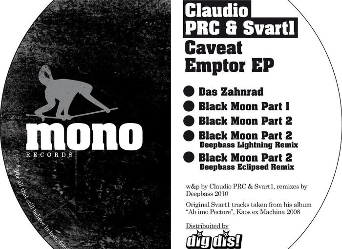 Claudio PRC & Svart1 – Caveat Emptor EP (MonoRecords)
